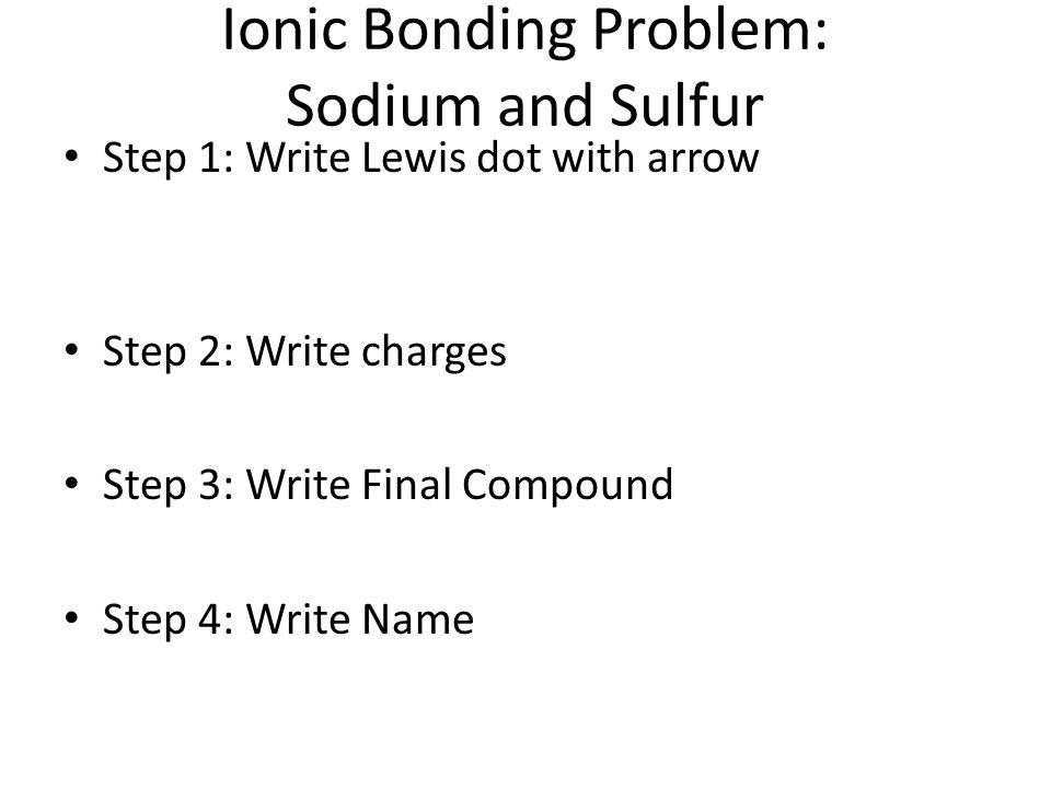 Ionic Bonding Problem: Sodium and Sulfur