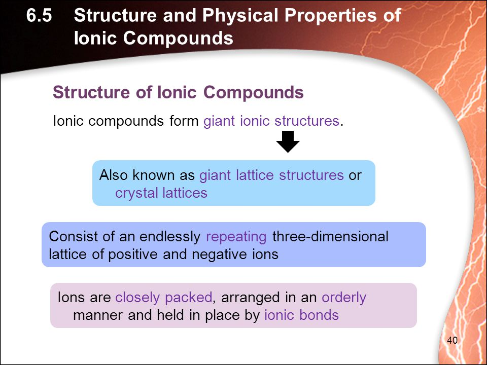 6.5 Structure and Physical Properties of Ionic Compounds