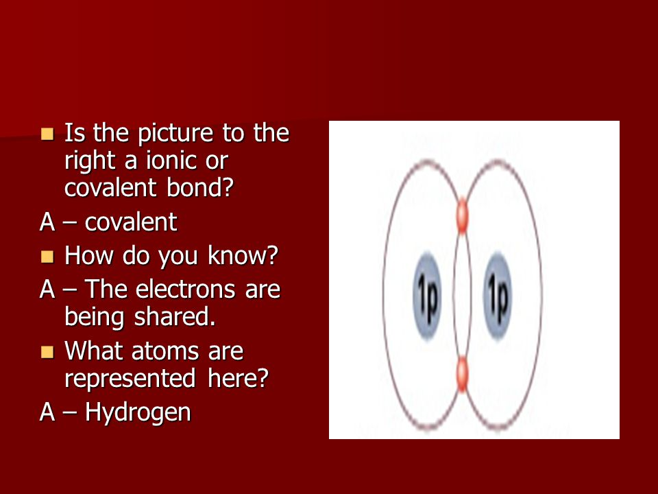 Is the picture to the right a ionic or covalent bond