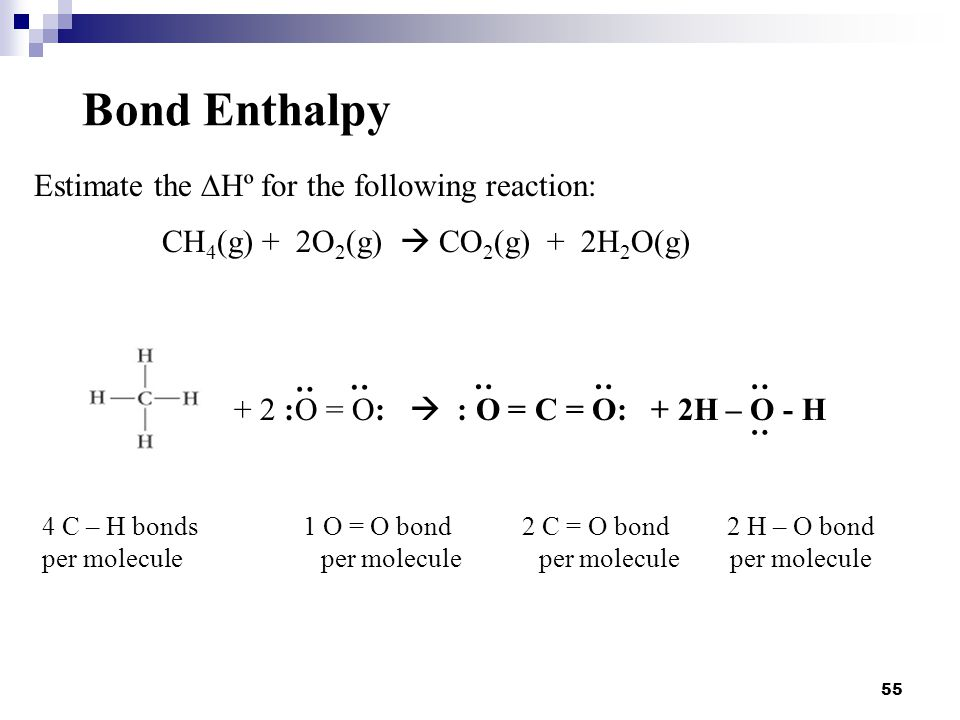 Bond Enthalpy Estimate the DHº for the following reaction: