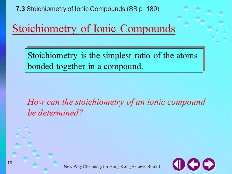 Stoichiometry of Ionic Compounds