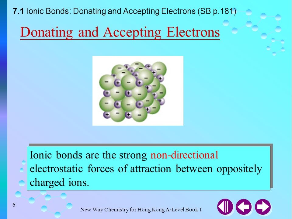 Donating and Accepting Electrons