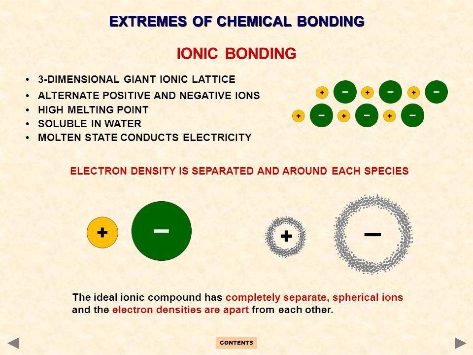 IONIC BONDING EXTREMES OF CHEMICAL BONDING
