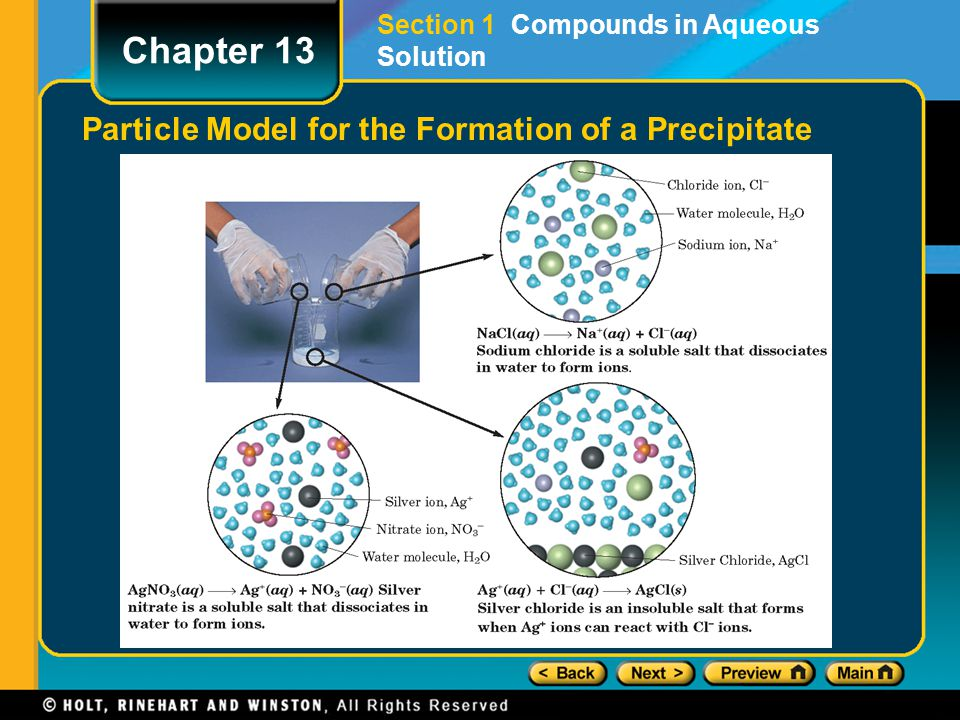 Particle Model for the Formation of a Precipitate