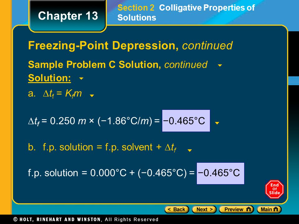 Freezing-Point Depression, continued