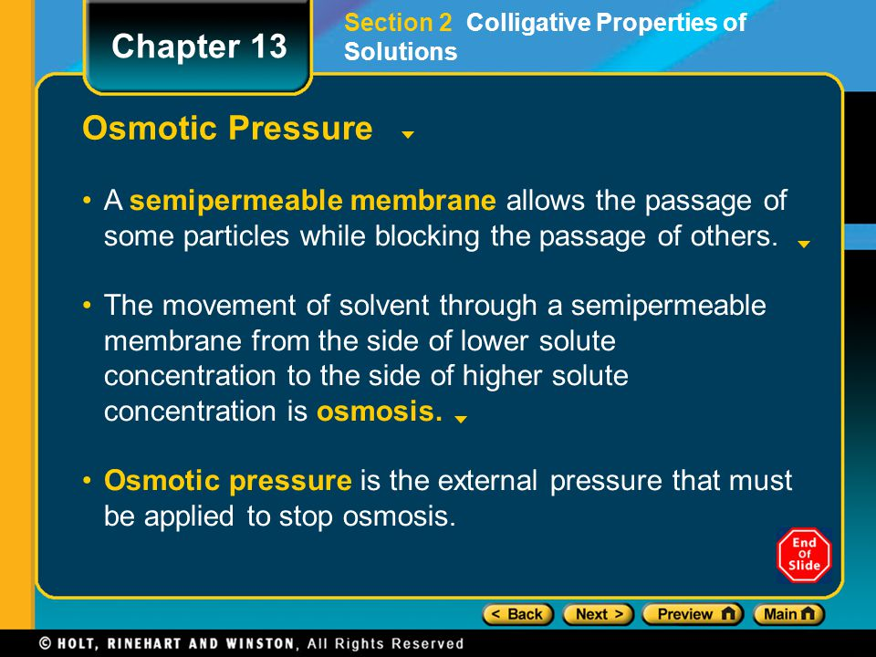 Chapter 13 Osmotic Pressure