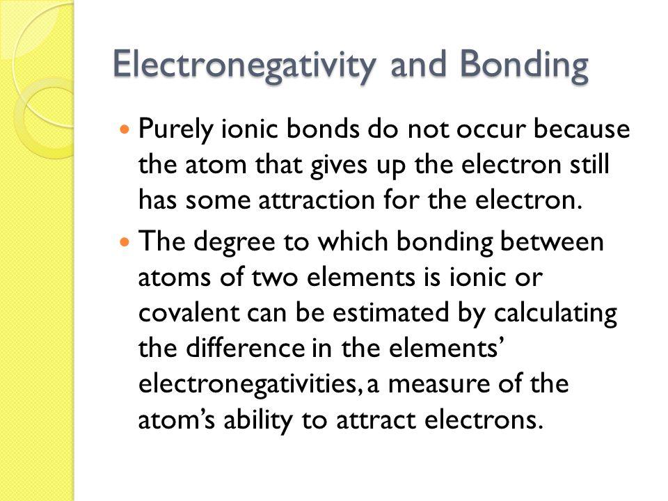 Electronegativity and Bonding