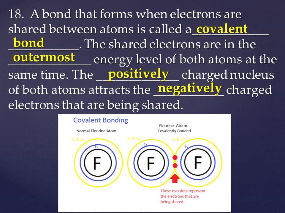covalent bond outermost positively negatively