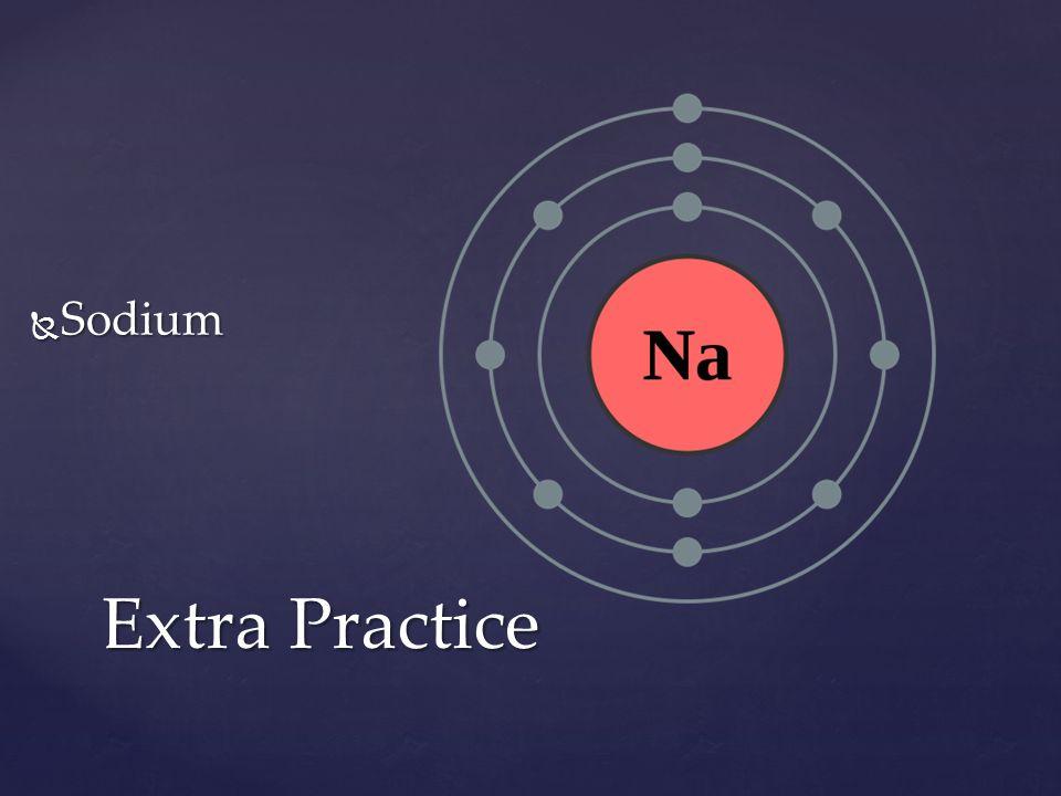 Sodium Extra Practice