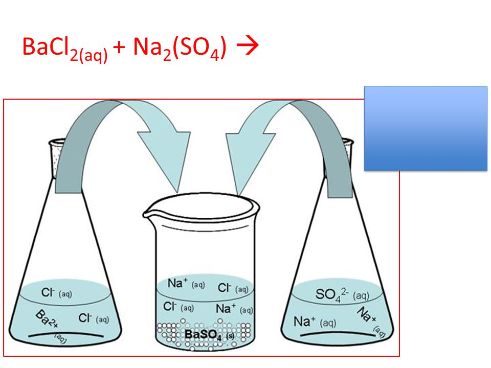 BaCl2(aq) + Na2(SO4) 