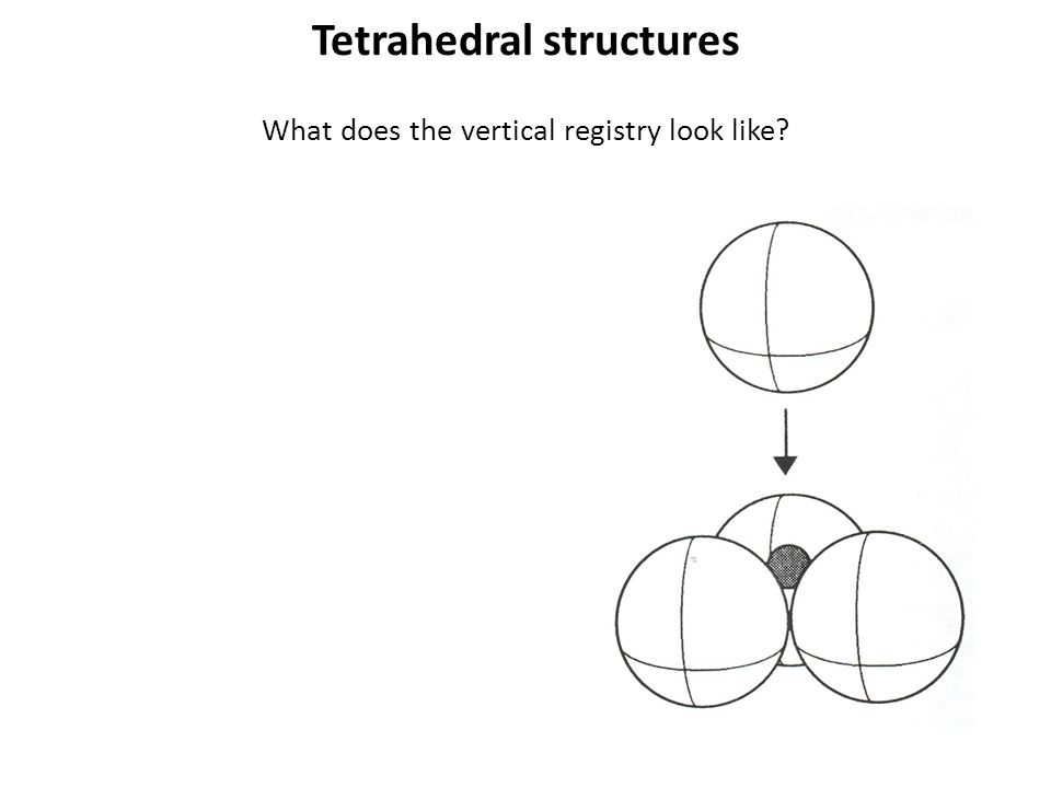 Tetrahedral structures