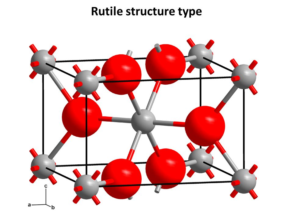 Rutile structure type