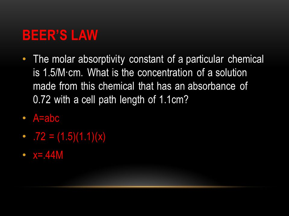 Beer's Law