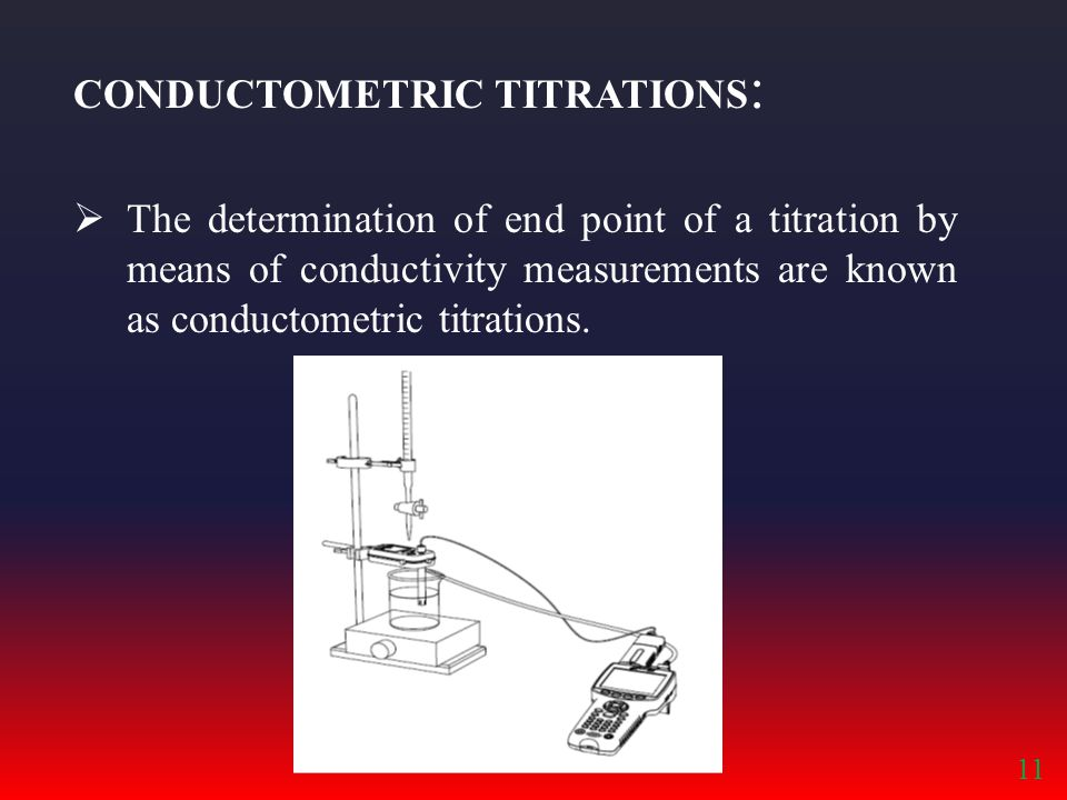 CONDUCTOMETRIC TITRATIONS: