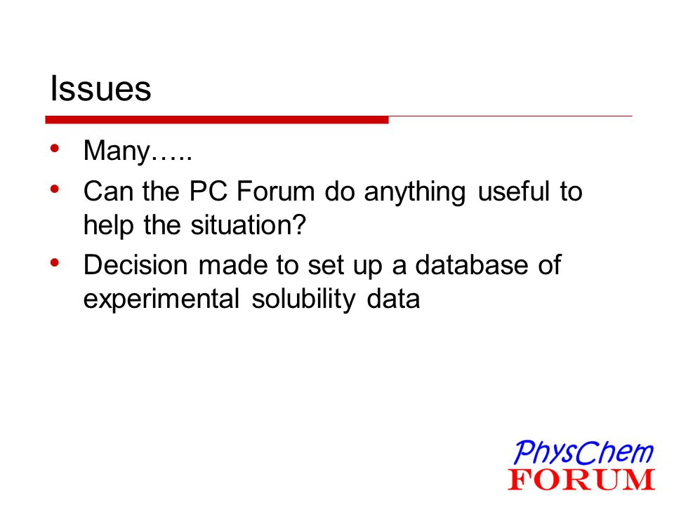 Issues Many….. Can the PC Forum do anything useful to help the situation.