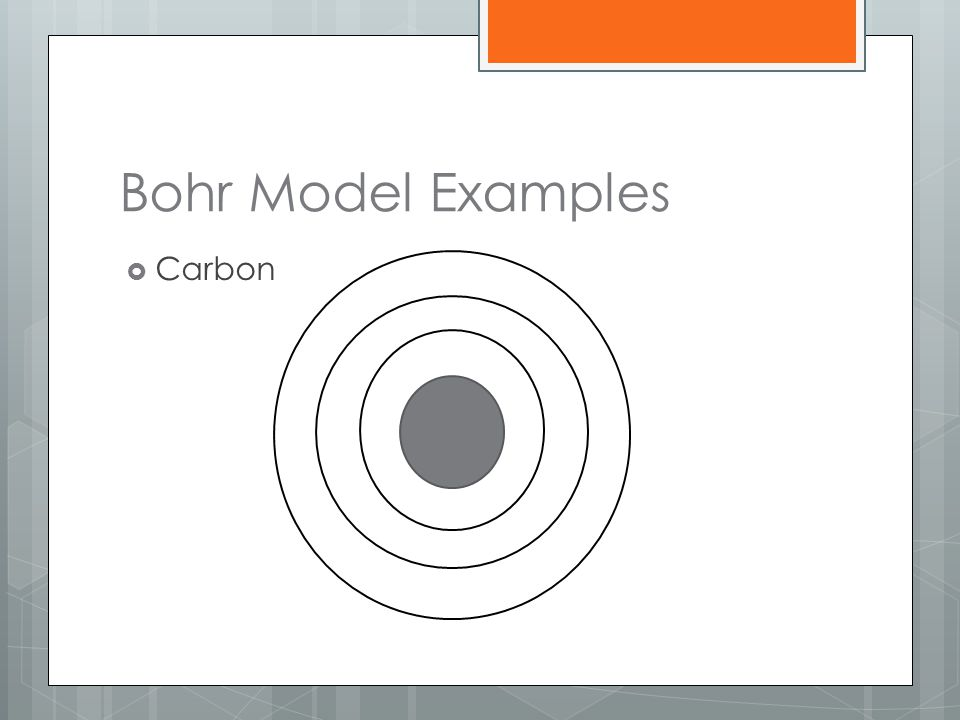 Bohr Model Examples Carbon