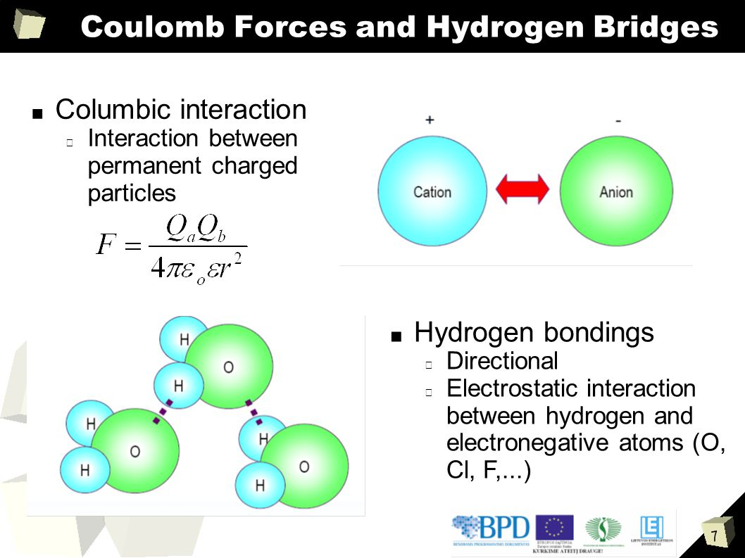 Coulomb Forces and Hydrogen Bridges