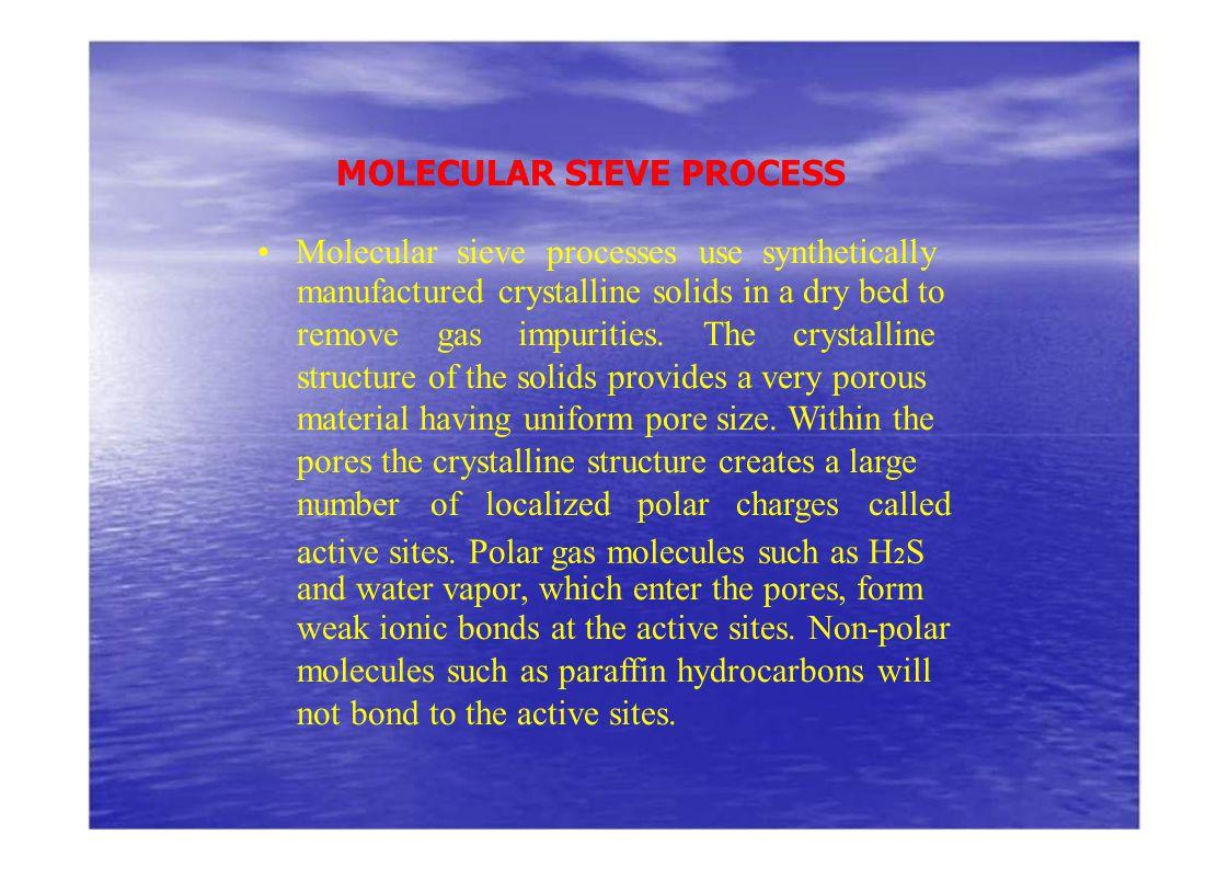 MOLECULAR SIEVE PROCESS