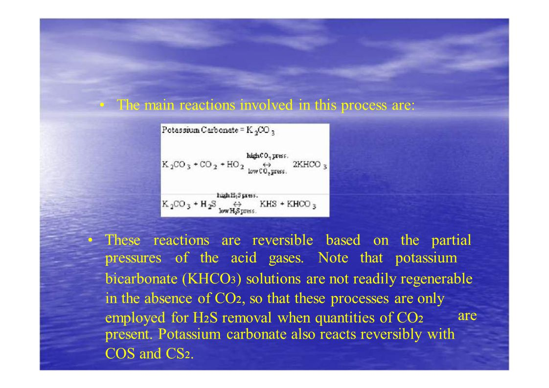• These reactions are reversible based on the partial