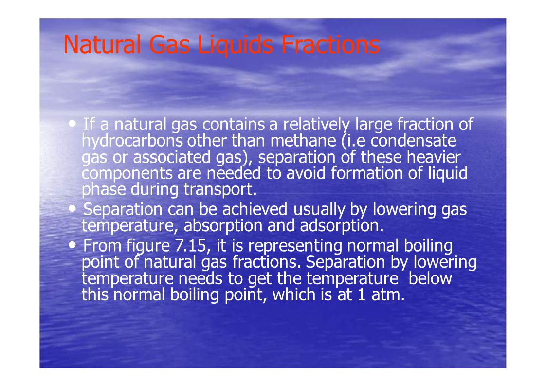 Natural Gas Liquids Fractions