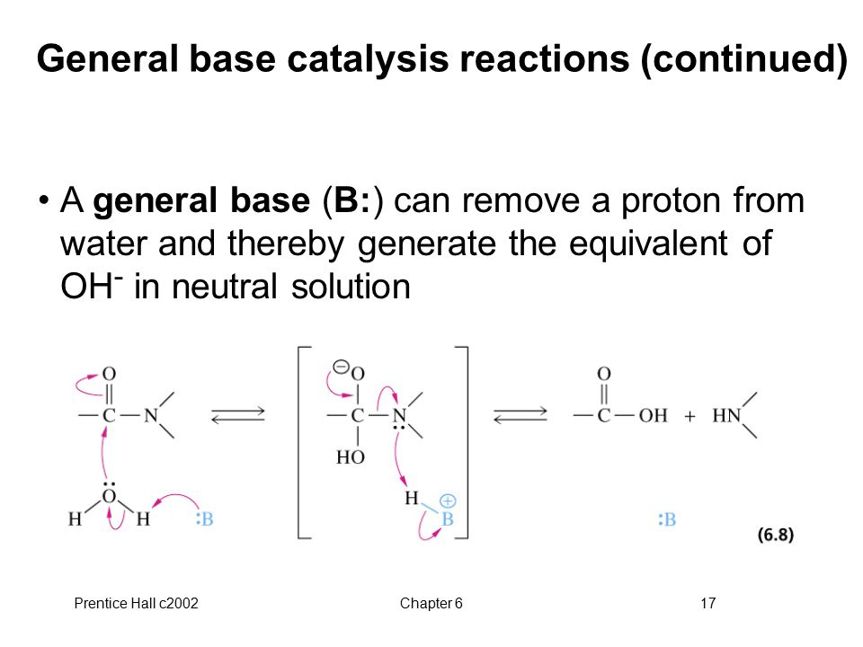 General base catalysis reactions (continued)
