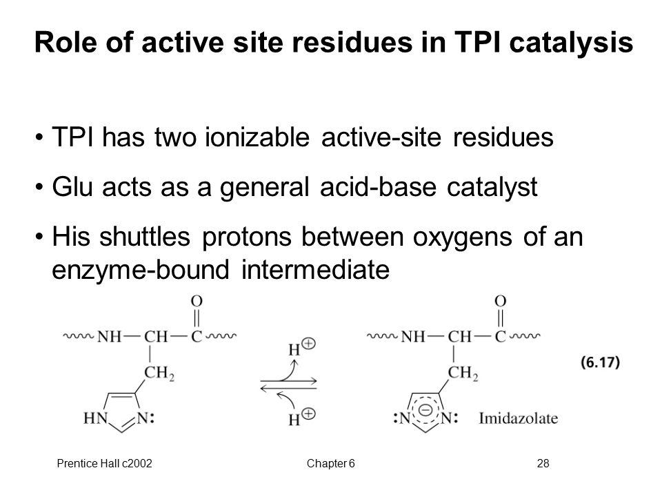 Role of active site residues in TPI catalysis