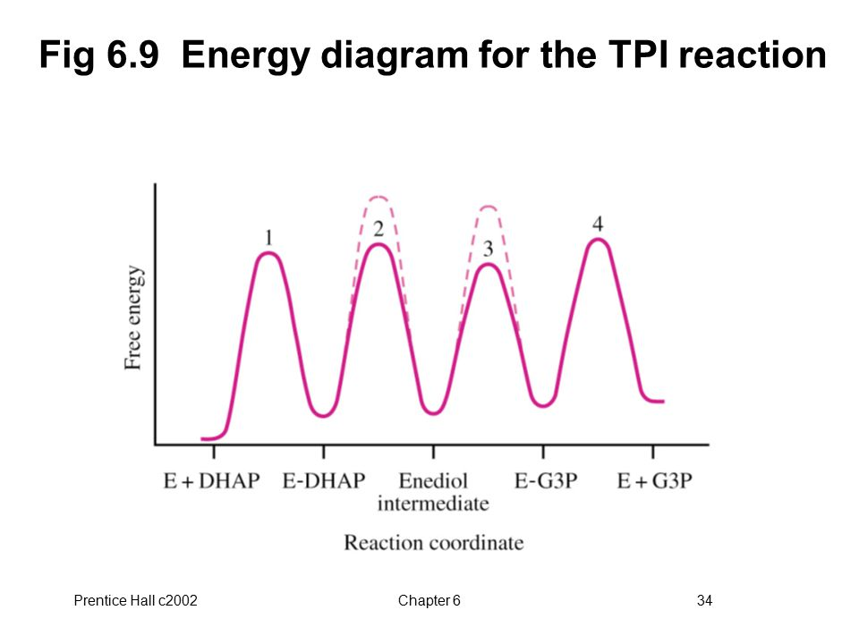 Fig 6.9 Energy diagram for the TPI reaction