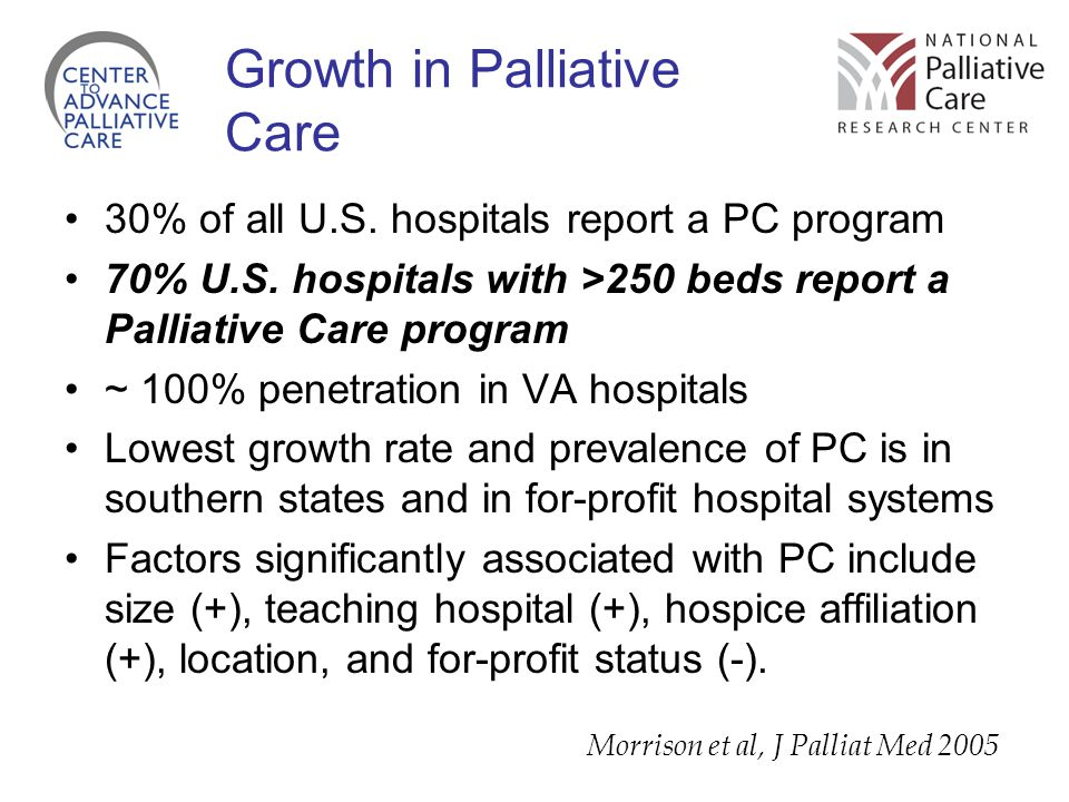 Growth in Palliative Care