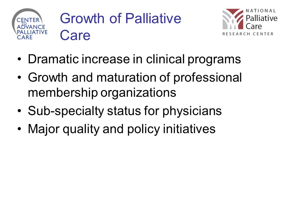 Growth of Palliative Care