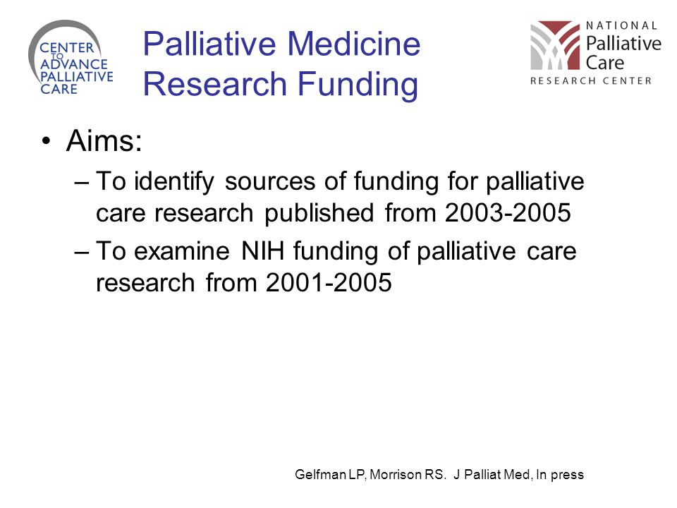 Palliative Medicine Research Funding