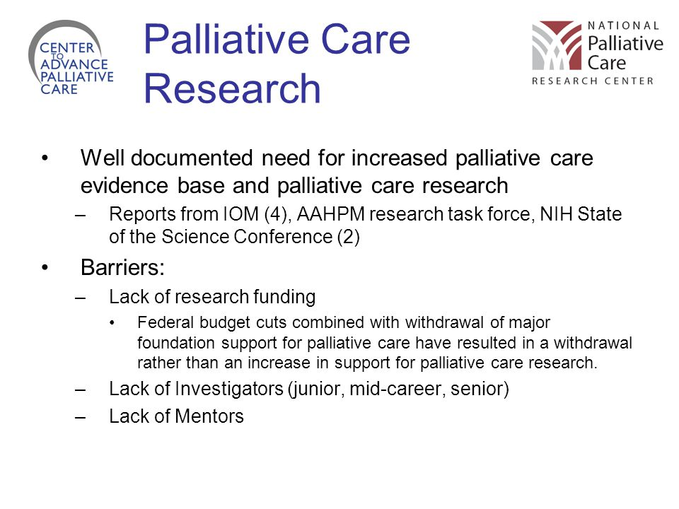 Palliative Care Research