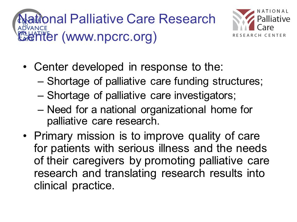 National Palliative Care Research Center (www.npcrc.org)