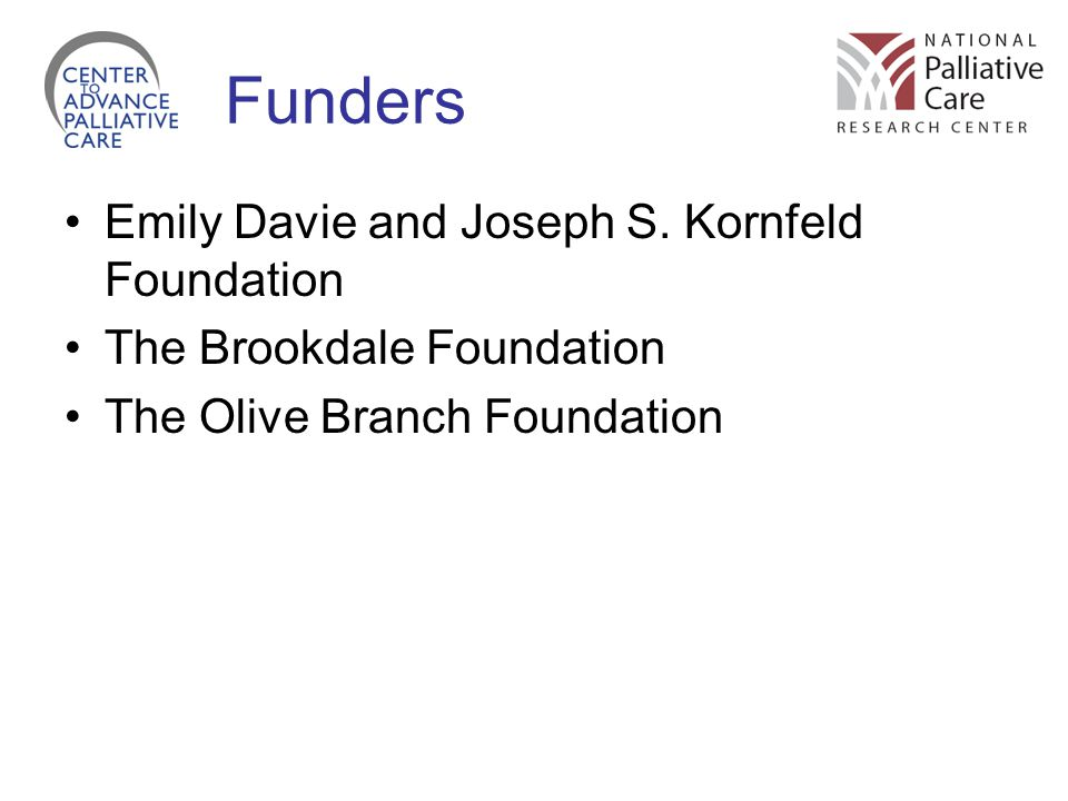 Funders Emily Davie and Joseph S. Kornfeld Foundation