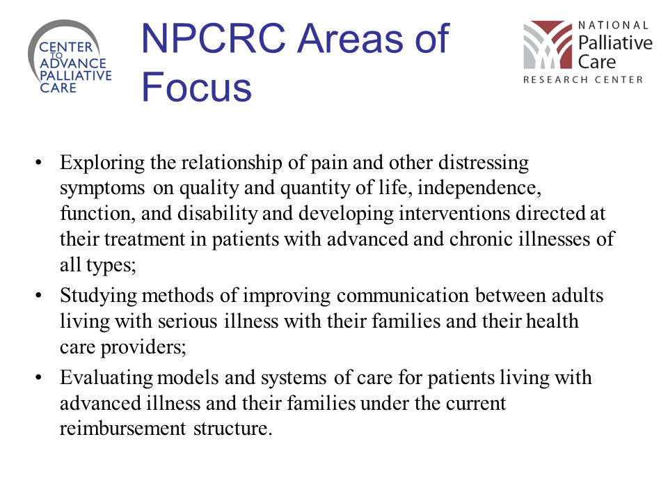 NPCRC Areas of Focus