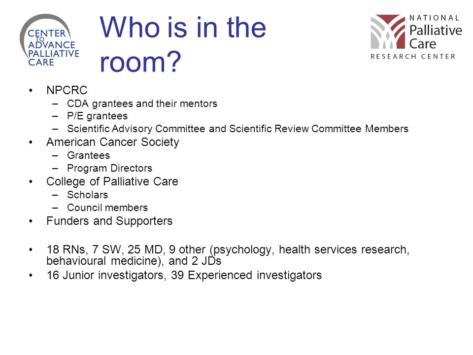 Who is in the room NPCRC American Cancer Society