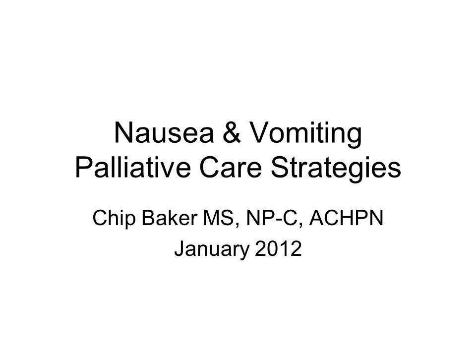 Nausea & Vomiting Palliative Care Strategies