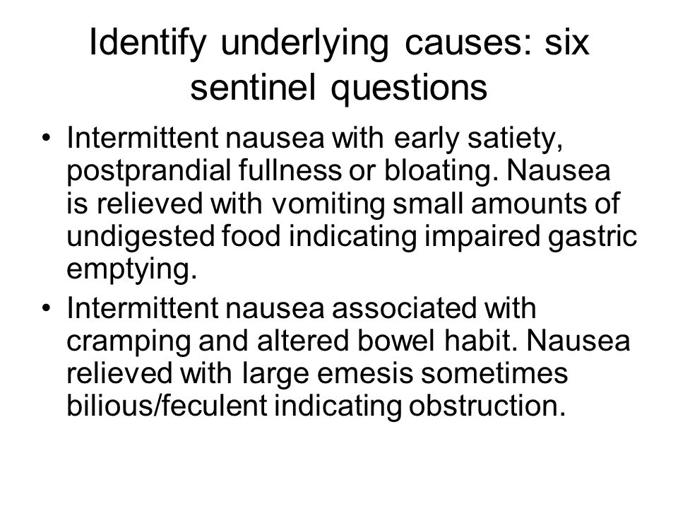 Identify underlying causes: six sentinel questions