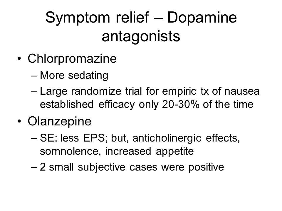 Symptom relief – Dopamine antagonists