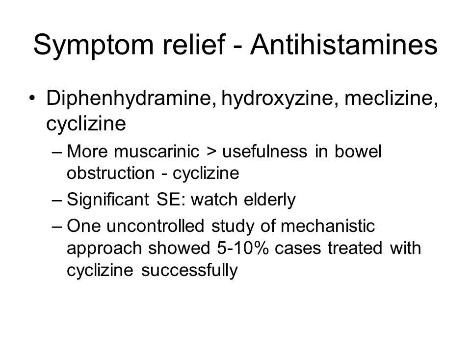 Symptom relief - Antihistamines