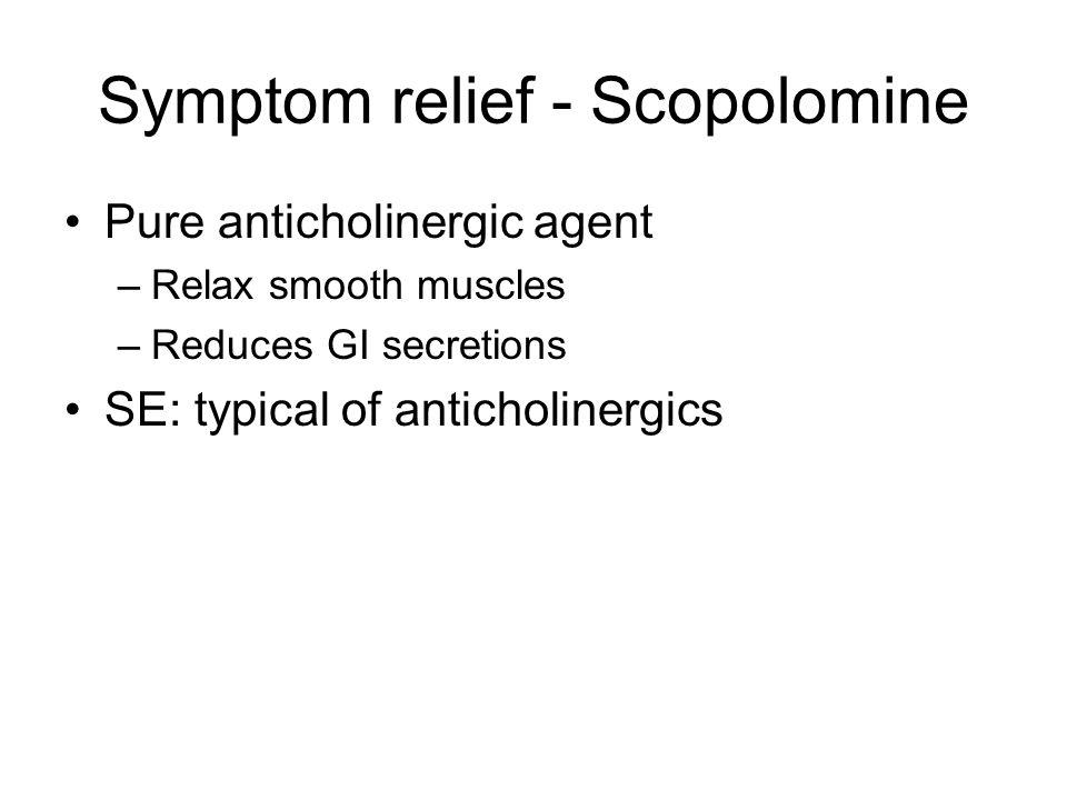 Symptom relief - Scopolomine