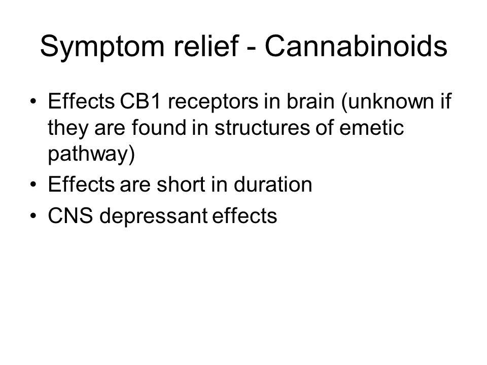 Symptom relief - Cannabinoids