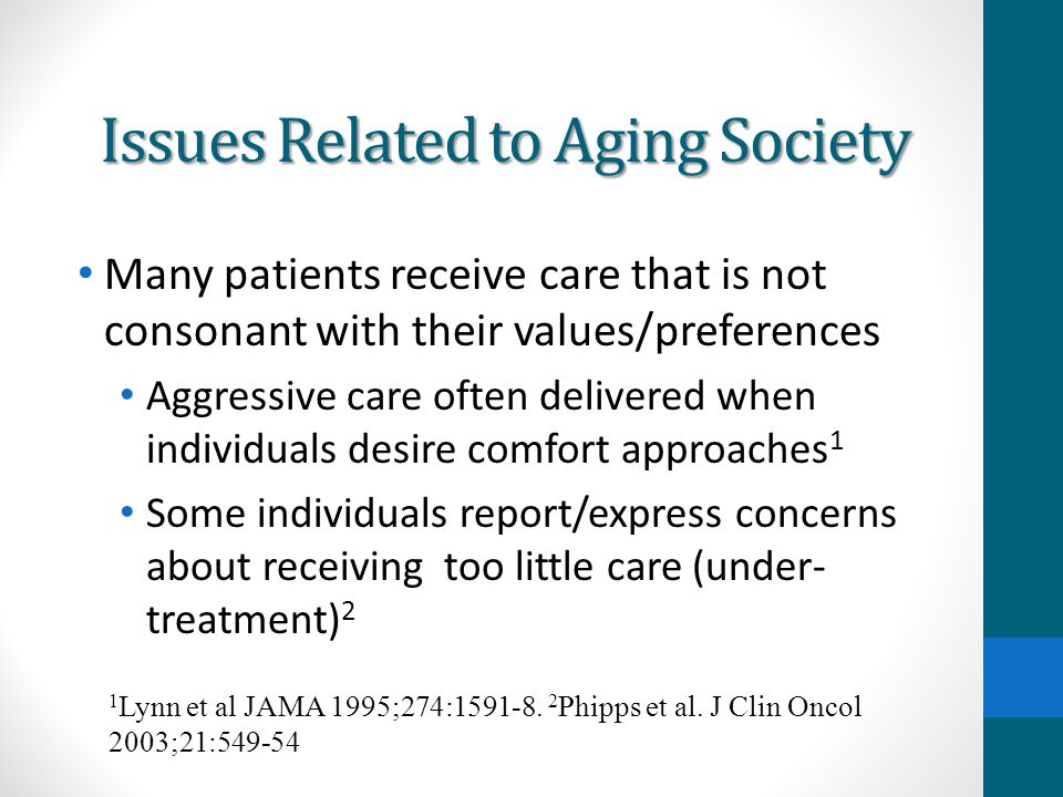 Issues Related to Aging Society