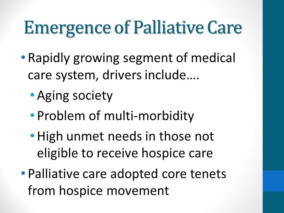 Emergence of Palliative Care