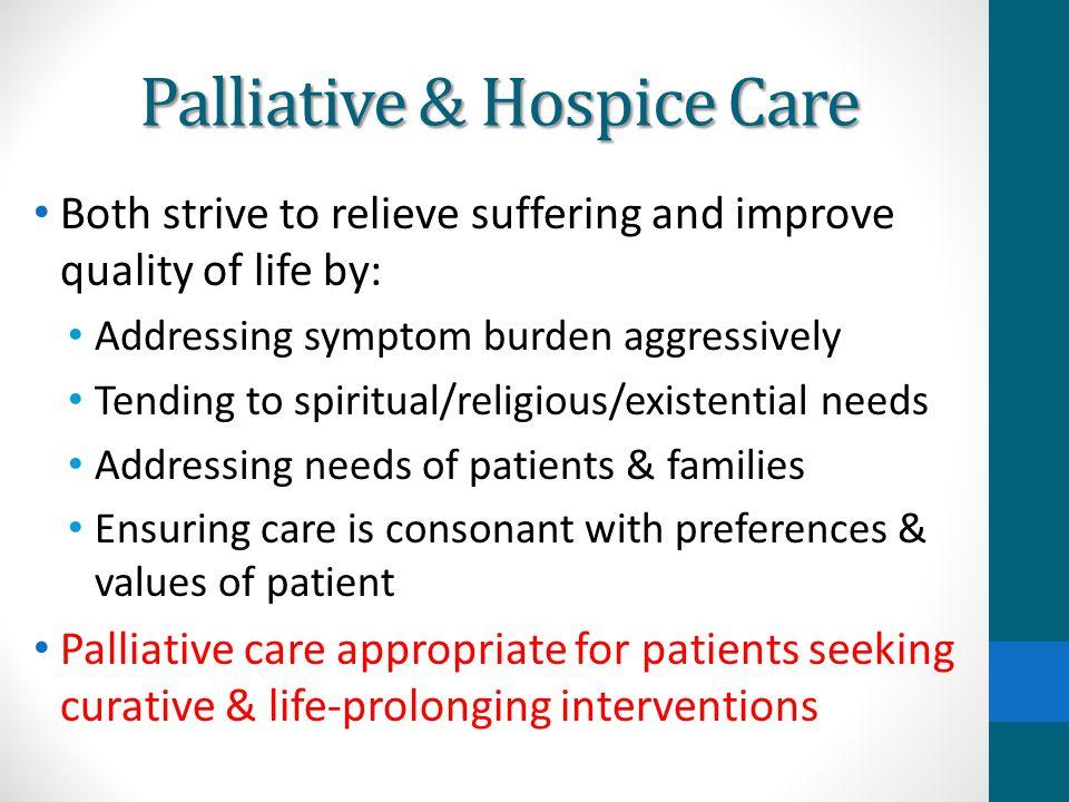 Palliative & Hospice Care