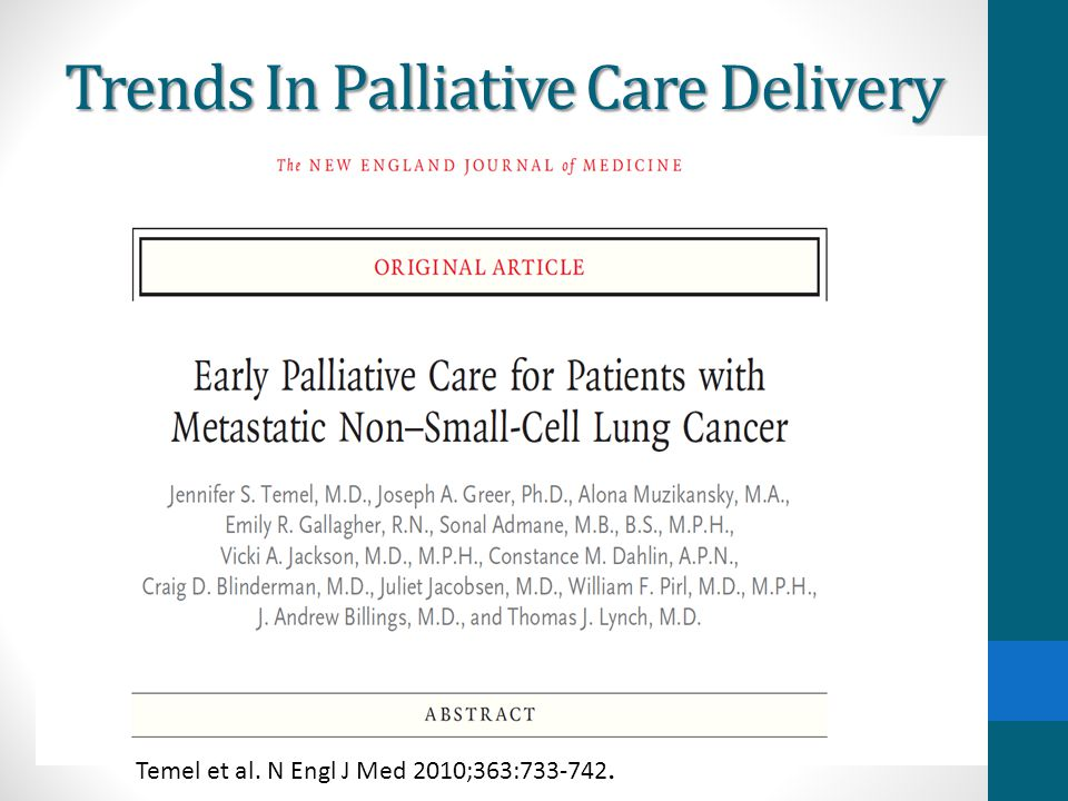 Trends In Palliative Care Delivery