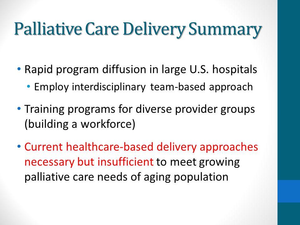 Palliative Care Delivery Summary