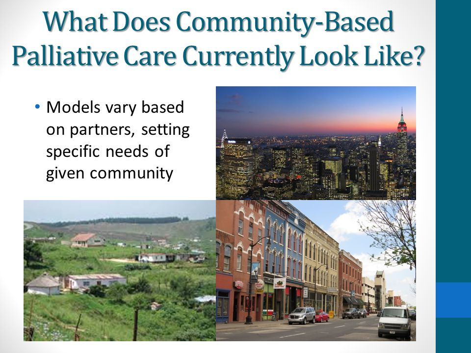 What Does Community-Based Palliative Care Currently Look Like