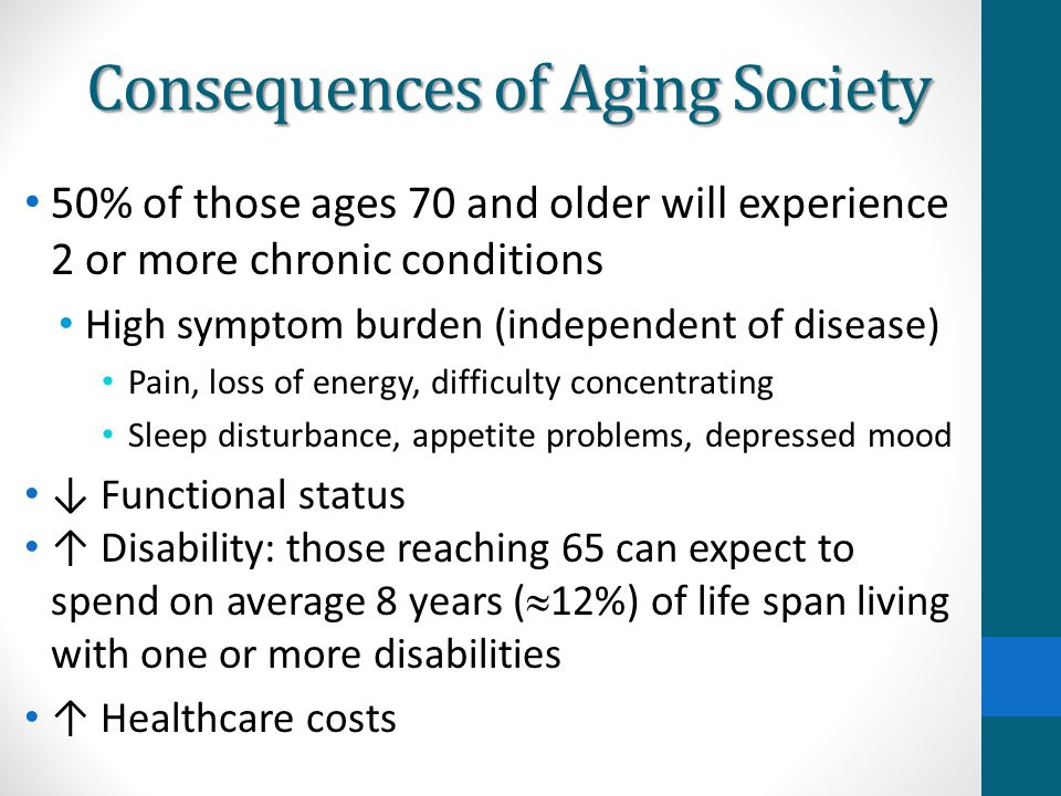Consequences of Aging Society