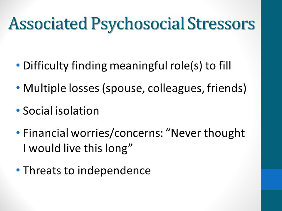 Associated Psychosocial Stressors