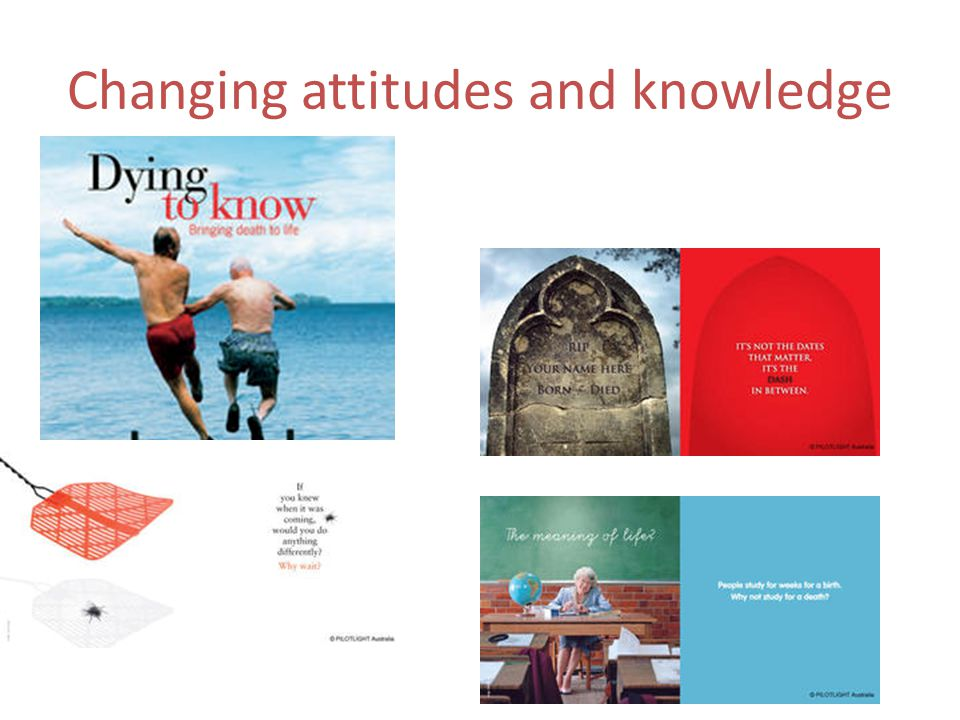 Changing attitudes and knowledge